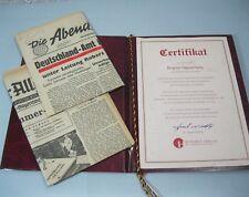 Das Historische Zeitdokument: 2x alte Zeitung 6.3.1949 Geburtstag