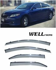 For 07-11 Toyota Camry WellVisors Side Window Visors with Chrome Trim