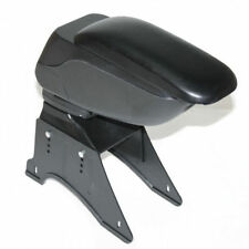 Universal Black Armrest Arm Rest Centre Console Sliding Leather Box Car Van Bus