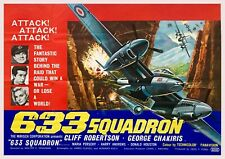 """Reproduction """"633 Squadron"""", Movie Poster, Home Wall Art, Size: A2"""