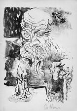 GUTTUSO, Renato. Testa di vecchio. Litografia originale 1949