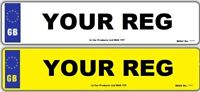 Pair Standard MOT UK Road Legal Car Van Reg Registration Number Plates & Fixings