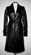 DSQUARED² LUXURY LEATHER TRENCH JACKET PELLE TOP QUALITY 40