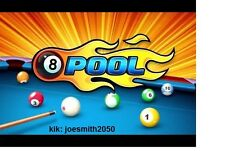 8 ball pool sticker + ( free 8bp 50m )