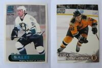 1999-00 Paramount #7 Salej Ruslan 83/99 ice blue  ducks