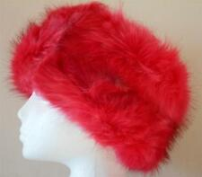 Womens extra wide plush faux fur headband -  ear warmer - 6 colours