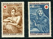 STAMP / TIMBRE FRANCE NEUF LUXE N° 1619/1620 ** croix rouge / L'ETE ET L'HIVER