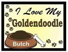 Goldendoodle Personalized I Love My Goldendoodle Magnet