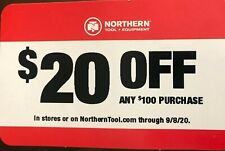 Northern Tool & Equipment Coupon $20 Off $100 Purchase Store or Online 09/08/20