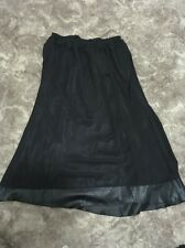 "Pre-loved ""Kingdom"" Black elastic waist Fully Lined skirt Size XL"