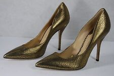 SUPER BEAUTIFUL!!! PAUL ANDREW 'zenadia' METALLIC BRONZE PUMPS EU 40 US 9
