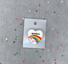 Rainbow & Hearts Fashion Pin Brooch Personalized MONICA - Stocking Stuffer
