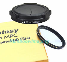 JJC Auto Lens Cap & 43mm Filter for Panasonic LUMIX DMC-LX100 replaces DMW-LFAC1
