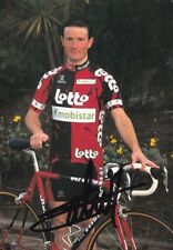 CYCLISME carte cycliste BENOIT SALMON équipe LOTTO MOBISTAR 1997 signée