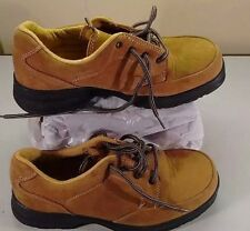 Diadora Utility Brown Leather Lace Up Steel Toe Safety Work Women Shoes 7.5M 38