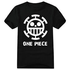 Top Anime One Piece Trafalgar Law Cotton Shirt Short Sleeve T-shirt Clothing New