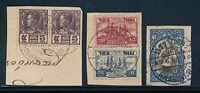 THAILAND SIAM KRABINDRA POSTMARKS on PIECE...3 ITEMS...1910-28