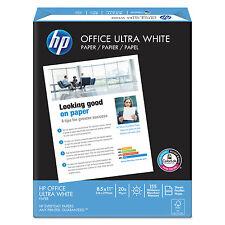 HP Office Ultra-White Paper 92 Bright 20lb 8-1/2 x 11 500/Ream 10/Carton 112101