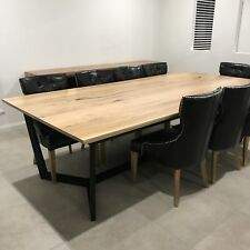 Aus Made Solid Wormy Chestnut Hardwood Timber Balgowlah Dining Table 10 Seater