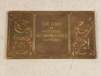 ANTIQUE 1912 RICHMOND BLUES SOUVENIR VISIT GORHAM BRONZE PLAQUE SEPT 16