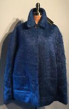 Amazing Sapphire  Blue mohair & wool cape Lochcarron Large