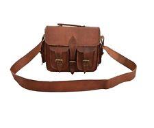 "11"" Genuine Leather DSLR Camera Bag Briefcase Satchel Tab/iPad Messenger Handbag"