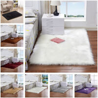 Shaggy Fluffy Rugs Anti-Skid Area Rug Office Room Carpet Home Bedroom Floor Mats