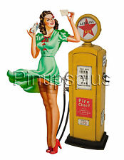 Retro 50s Gas Pump Vintage Pinup Waterslide Decal for Guitars & Much More S273
