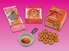 Re-ment dollhouse miniature snacks donuts shrimp rice cracker ice