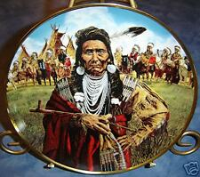 Chief Joseph Man of Peace Paul Calle Indian Franklin Mint Plate