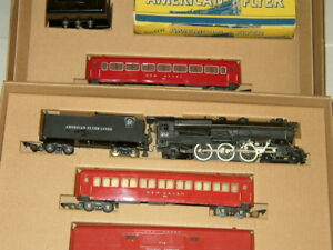 AMERICAN FLYER SET BOX  & INSERTS ONLY FREIGHT/ PASSENGER CARS NO TRAINS OR CARS
