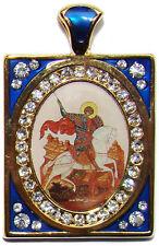 Medaille Saint Georges, Pendentif religieux Bijou Chrétien Medaille St Georges