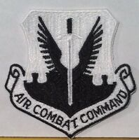 U.S. Air Force Combat Command Military Iron On Patch Black & WHITE Version