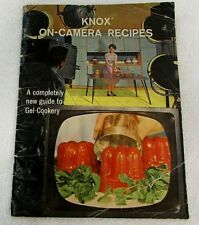 KNOX Gelatin Guide to Gel-Cookery ON-CAMERA RECIPES 1962 VINTAGE Cookbook RE218