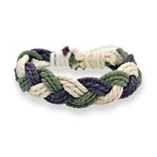 H&Y Men Women Adjustable Handmade Knitted Braided Cotton and Linen Bracelet