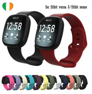 For Fitbit Versa 3 / Sense Strap Replacement Watch Band Wristband Wrist Silicone