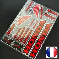 Autocollant HONDA REFLECHISSANT MOTO CARENAGE STICKERS EN FRANCE REF20P