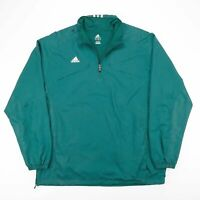 Vintage ADIDAS Green 1/2 Zip Pullover Sports Track Jacket Size Men's Large