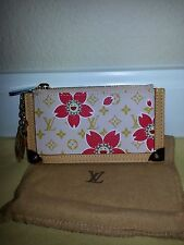 AUTH LOUIS VUITTON PINK CHERRY BLOSSOM COIN PURSE BRAND NEW