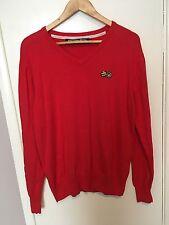 Crosshatch Men's Jumper Red Size XL<NH238
