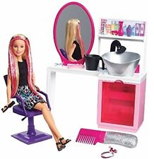Barbie Glitter Peluquería Con Muñeca Rubia-Sparkle estilo salón