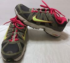 Nike Alvord 8 Grey Pink Neon Running Shoes Sz 8.5 Training Air Sneakers Train