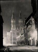 Meiningen Thür. Blick zur Stadtkirche Echt Fotografie Ansichtskarte AK PK s/w