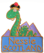 Scotland Nessie Loch Ness Monster Shaped Embroidered Patch