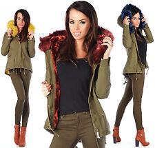 Sexy Parka Winter Military Khaki Jacket With Fur P 111