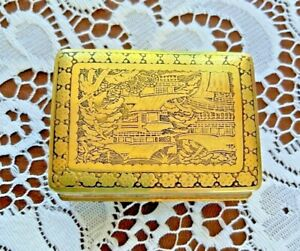 LOVELY ANTIQUE JAPANESE KOMAI GOLD GILDED MIXED METAL SIGNED DRAGON SNUFF BOX