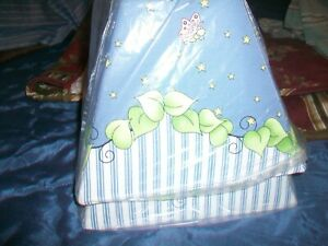 Summer blue white green stripe floral lamp shades 2