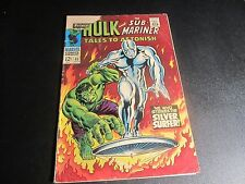 TALES TO ASTONISH #92 1ST SILVER SURFER CROSS OVER BATTLES THE HULK KEY !!!