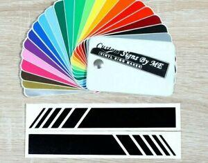 2x Side Mirror Strips Car Van Sticker Vinyl Decal Adhesive BLACK