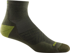 Darn Tough 1040 Fatigue Merino Wool Run 1/4 Sock Light-Weight Cushion USA M L XL